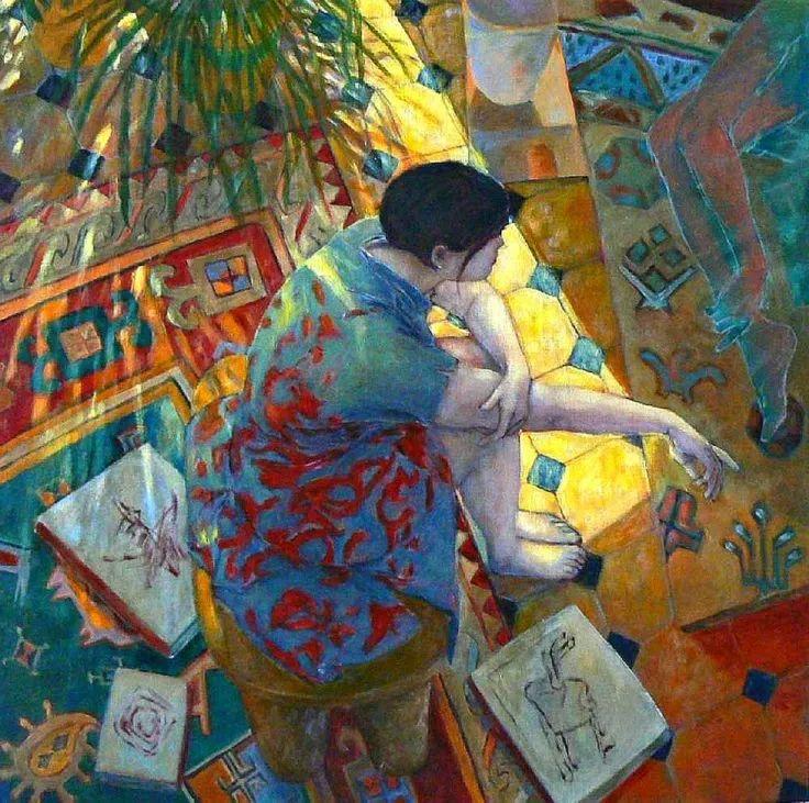 现代新纳比画派画作,色彩鲜艳丰富插图37
