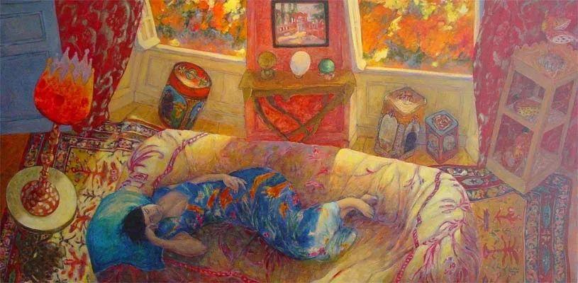现代新纳比画派画作,色彩鲜艳丰富插图39