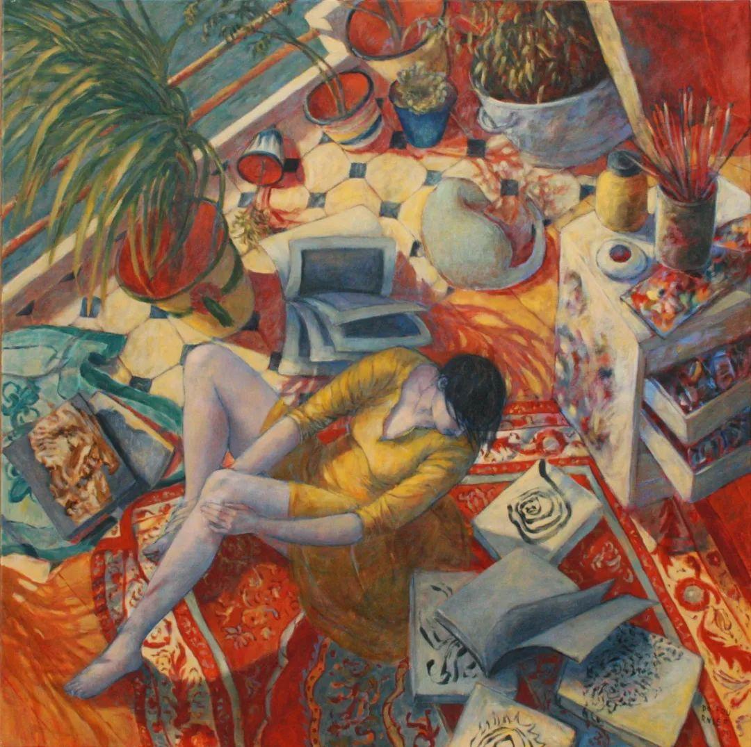 现代新纳比画派画作,色彩鲜艳丰富插图43