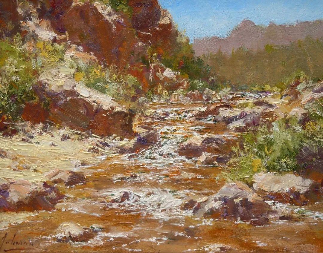 罗伯特·约翰逊笔下精美的风景、花卉油画插图1