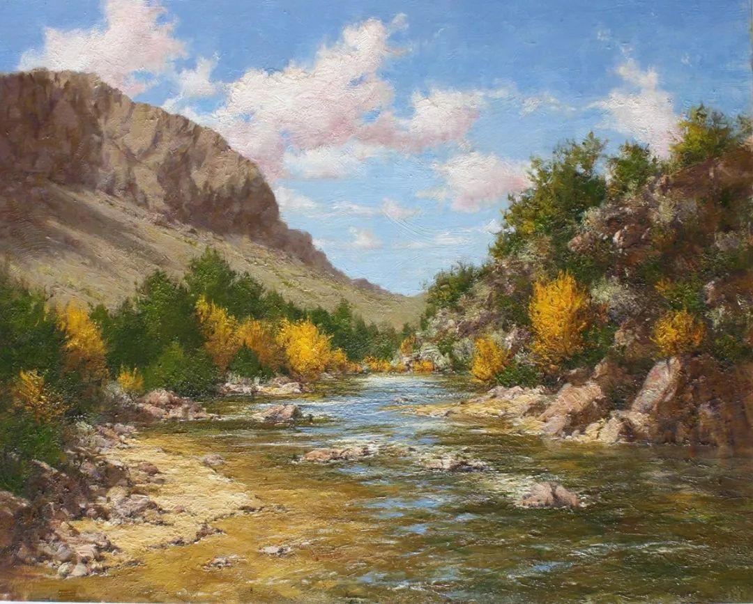 罗伯特·约翰逊笔下精美的风景、花卉油画插图3