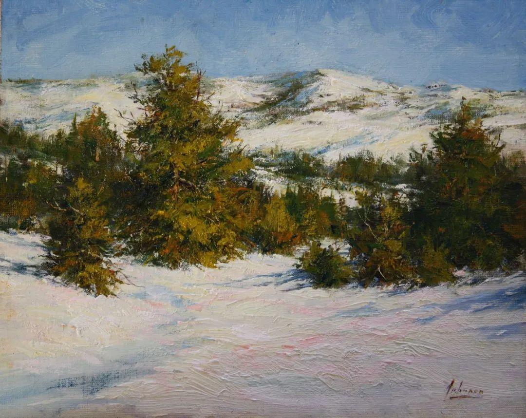 罗伯特·约翰逊笔下精美的风景、花卉油画插图5