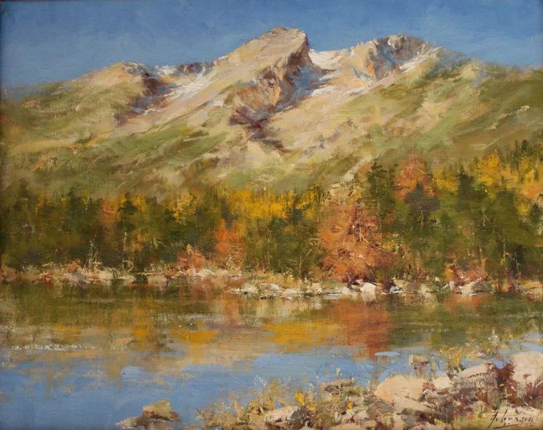 罗伯特·约翰逊笔下精美的风景、花卉油画插图7