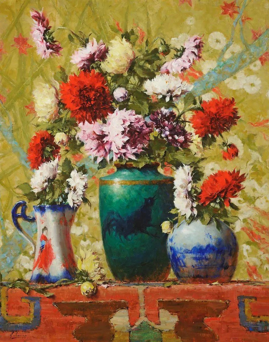 罗伯特·约翰逊笔下精美的风景、花卉油画插图23