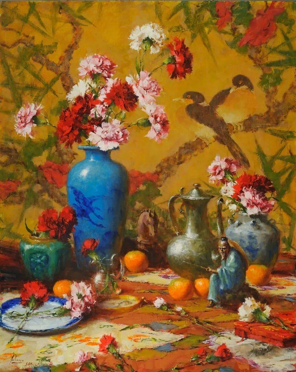 罗伯特·约翰逊笔下精美的风景、花卉油画插图27