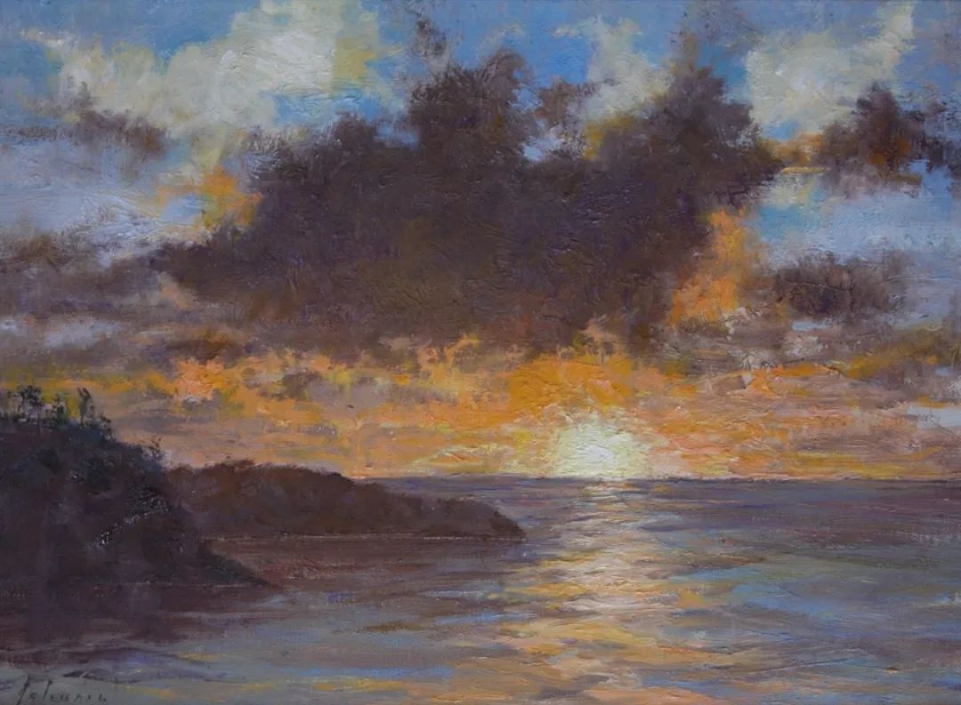 罗伯特·约翰逊笔下精美的风景、花卉油画插图35
