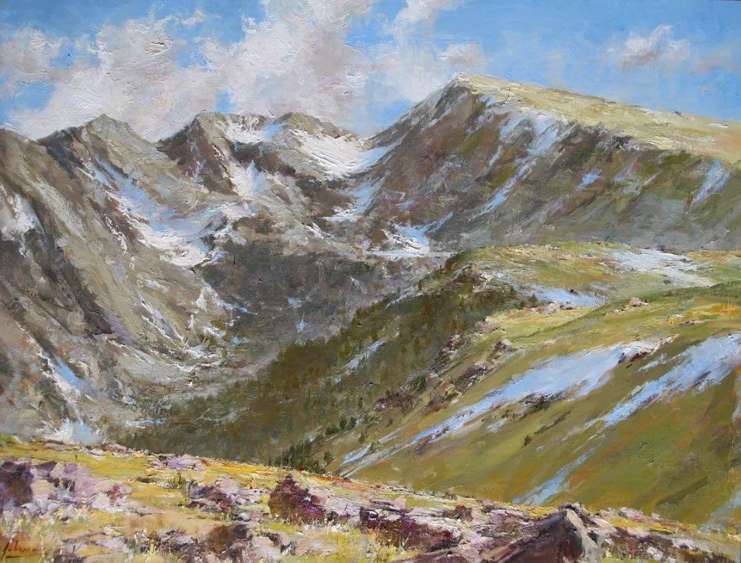 罗伯特·约翰逊笔下精美的风景、花卉油画插图37