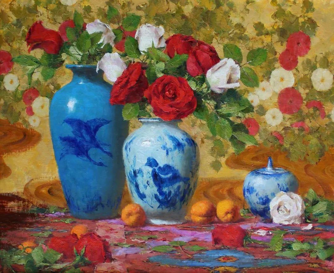 罗伯特·约翰逊笔下精美的风景、花卉油画插图39