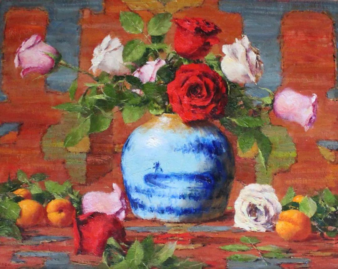 罗伯特·约翰逊笔下精美的风景、花卉油画插图41