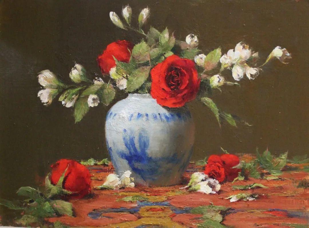 罗伯特·约翰逊笔下精美的风景、花卉油画插图43