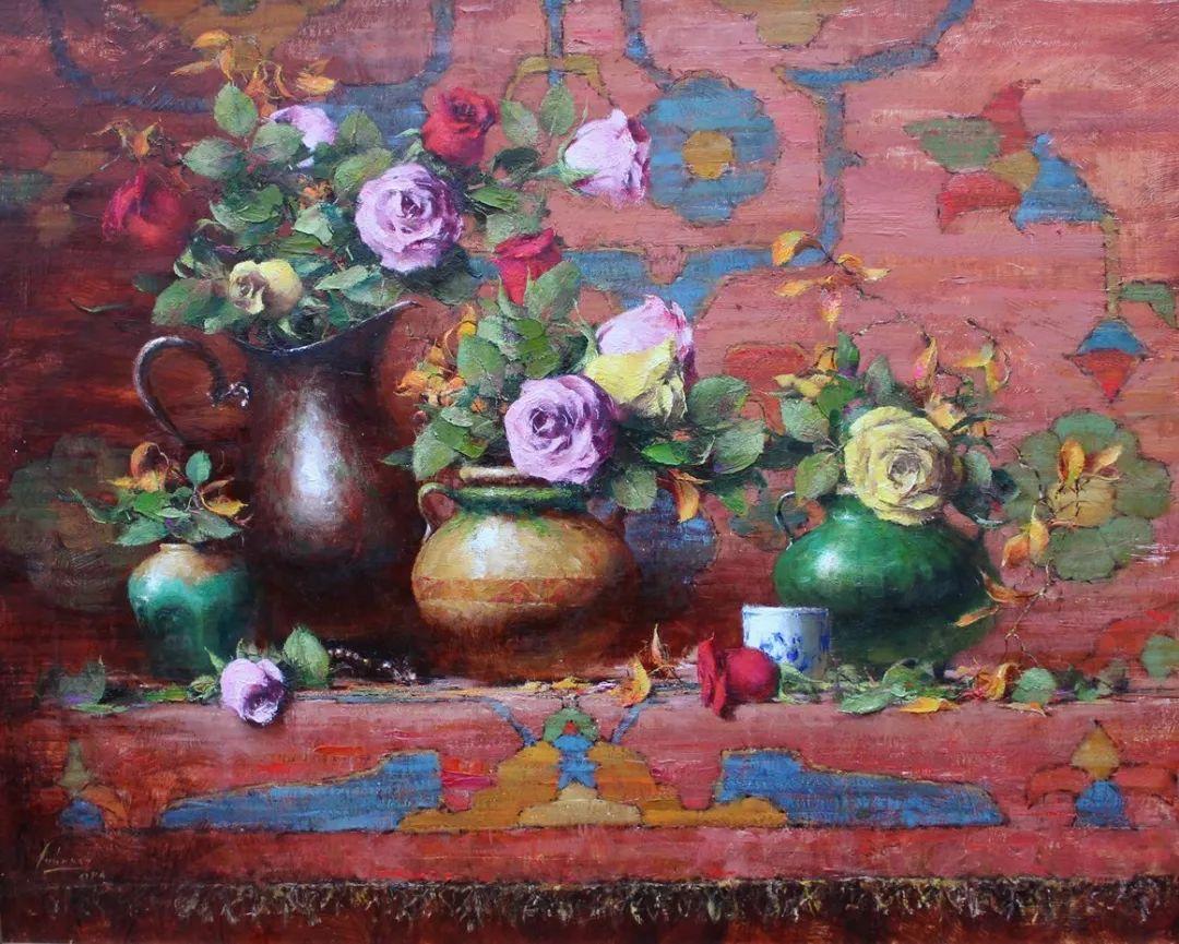 罗伯特·约翰逊笔下精美的风景、花卉油画插图47