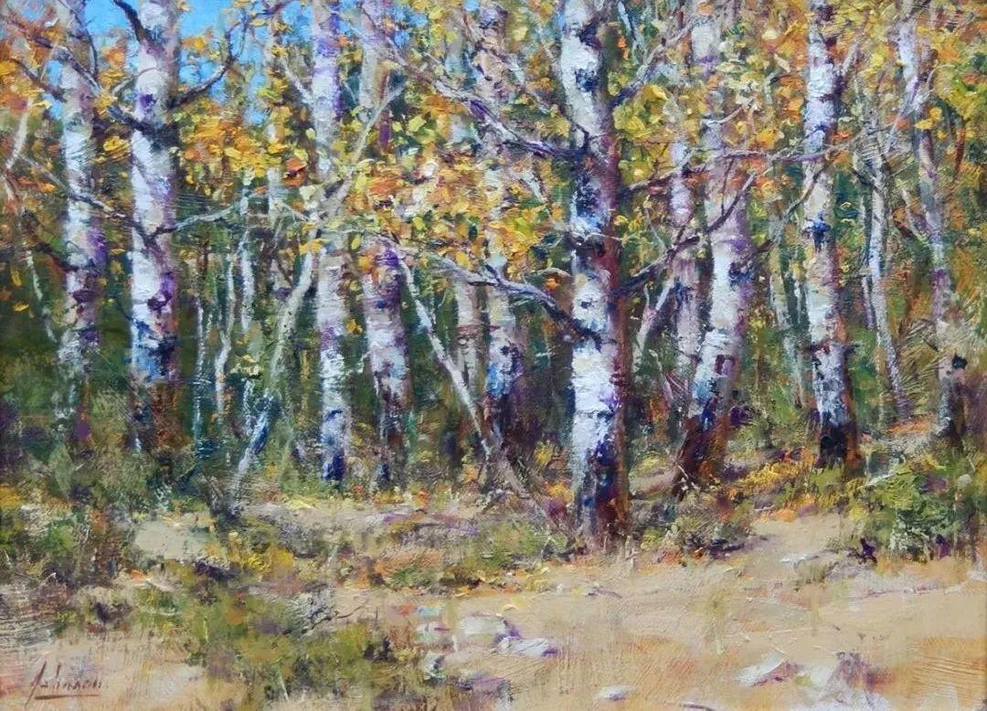 罗伯特·约翰逊笔下精美的风景、花卉油画插图49