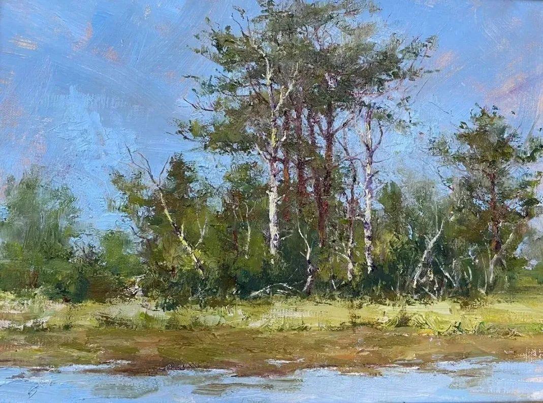 罗伯特·约翰逊笔下精美的风景、花卉油画插图51
