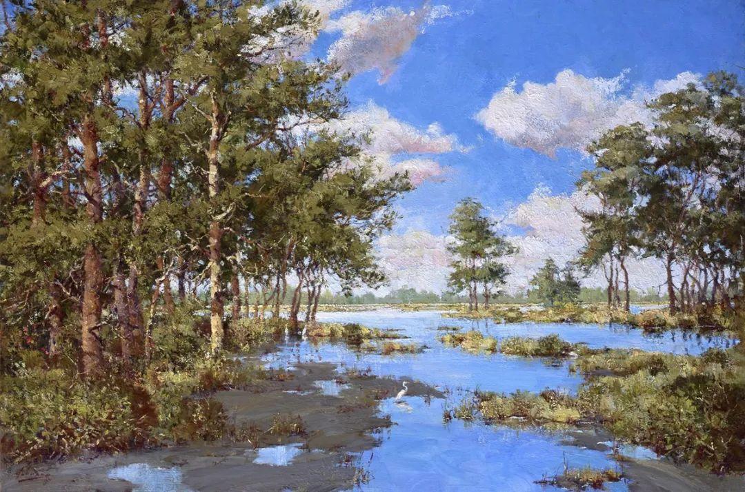 罗伯特·约翰逊笔下精美的风景、花卉油画插图53