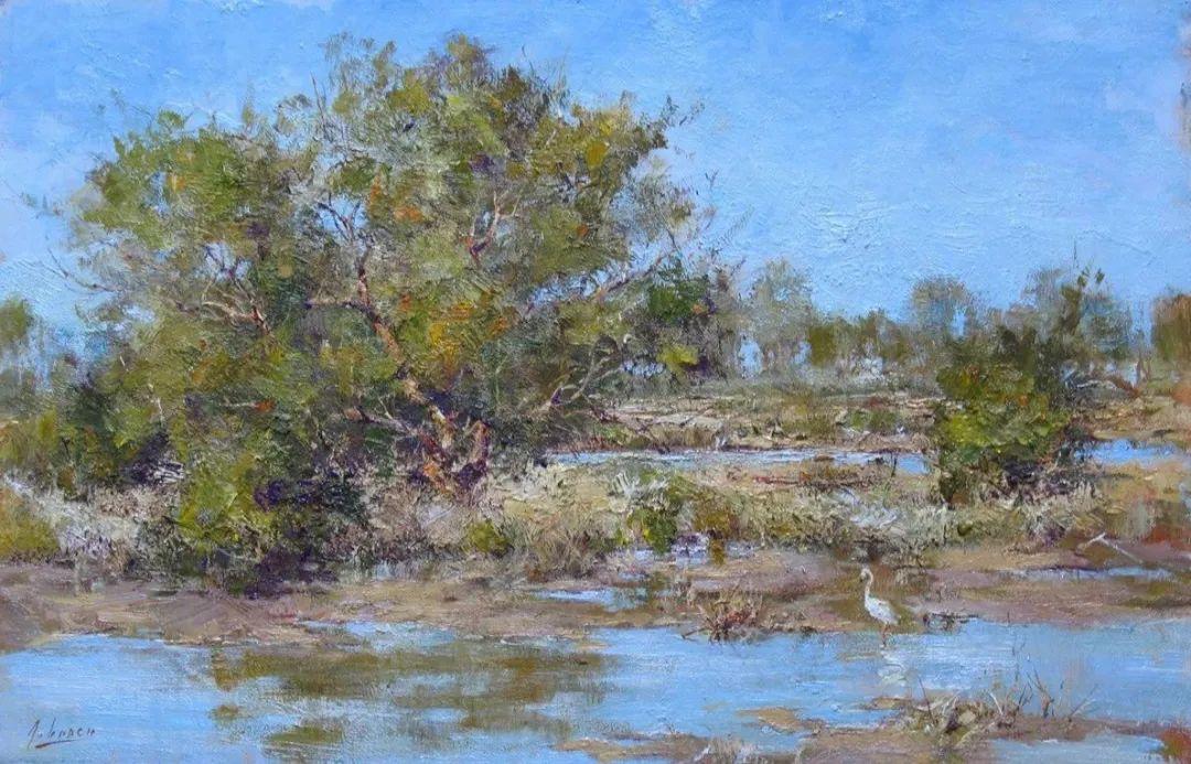 罗伯特·约翰逊笔下精美的风景、花卉油画插图61