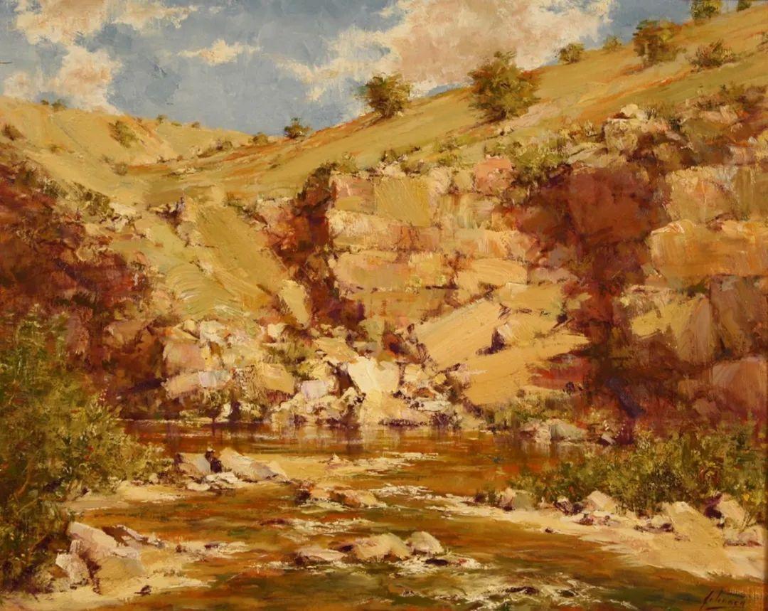 罗伯特·约翰逊笔下精美的风景、花卉油画插图67