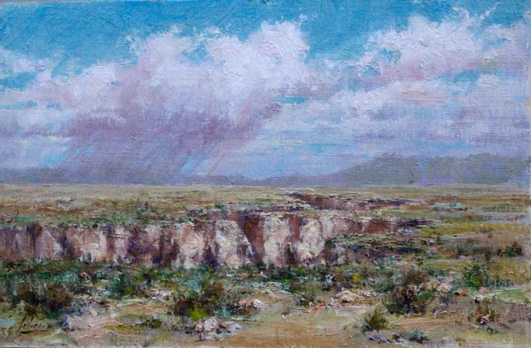罗伯特·约翰逊笔下精美的风景、花卉油画插图73