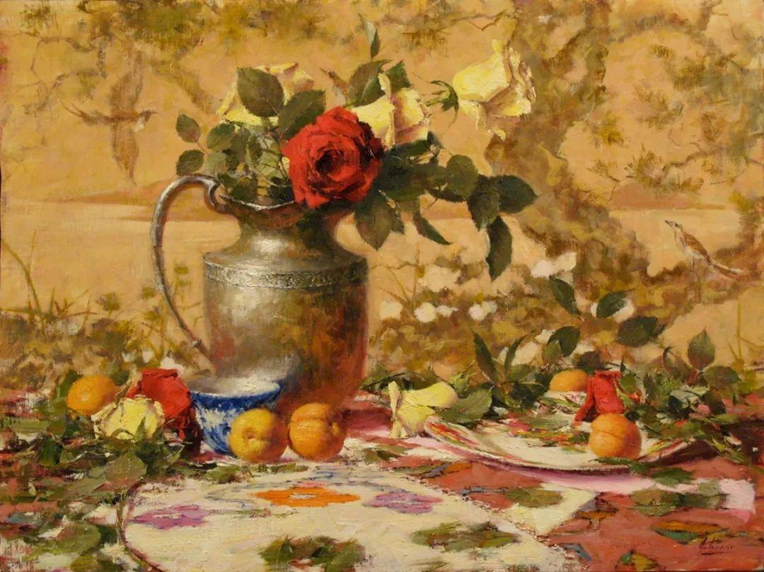 罗伯特·约翰逊笔下精美的风景、花卉油画插图77