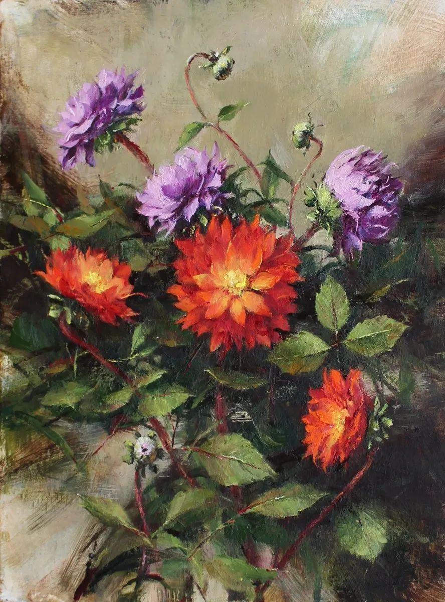 罗伯特·约翰逊笔下精美的风景、花卉油画插图79