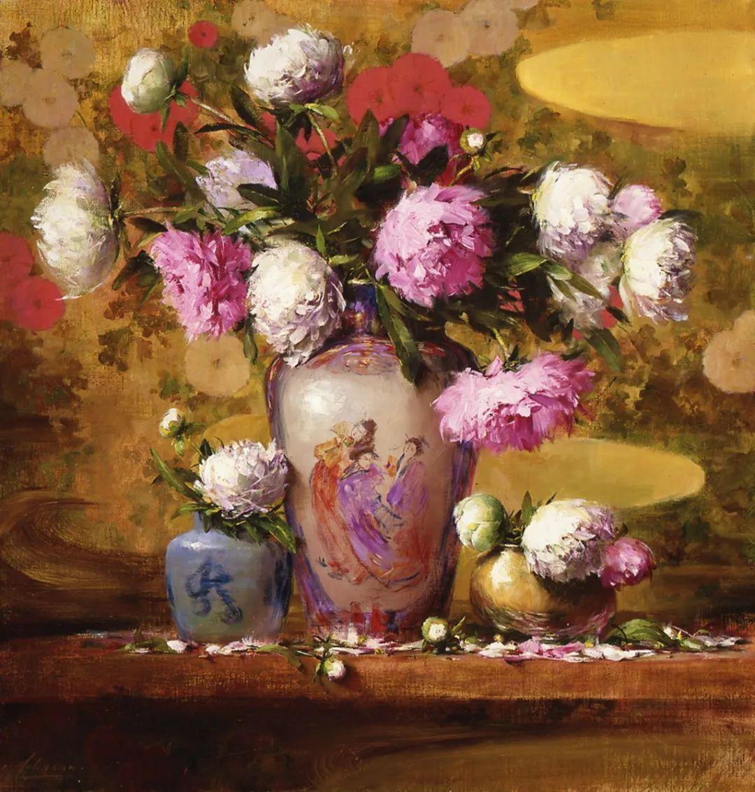 罗伯特·约翰逊笔下精美的风景、花卉油画插图81