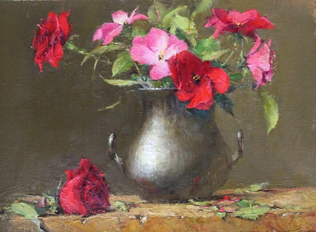 罗伯特·约翰逊笔下精美的风景、花卉油画插图83