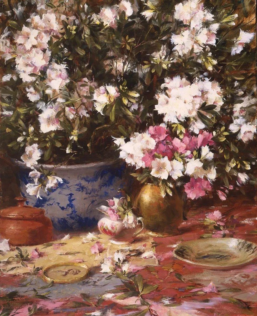 罗伯特·约翰逊笔下精美的风景、花卉油画插图87