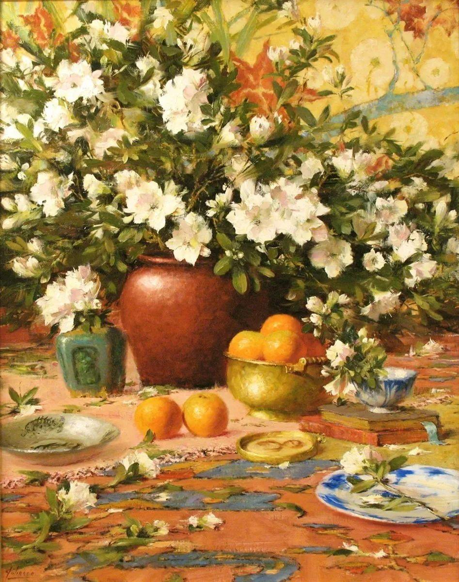 罗伯特·约翰逊笔下精美的风景、花卉油画插图89