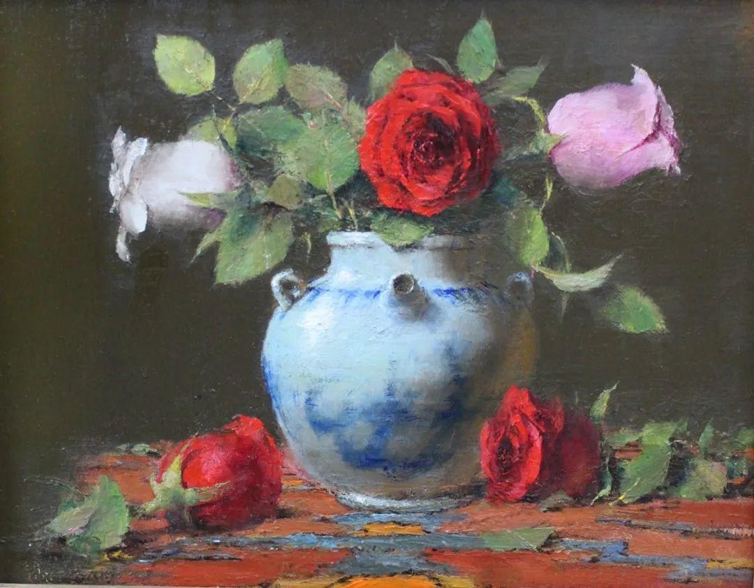 罗伯特·约翰逊笔下精美的风景、花卉油画插图91