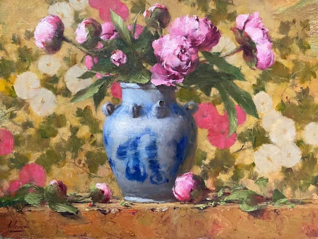 罗伯特·约翰逊笔下精美的风景、花卉油画插图93