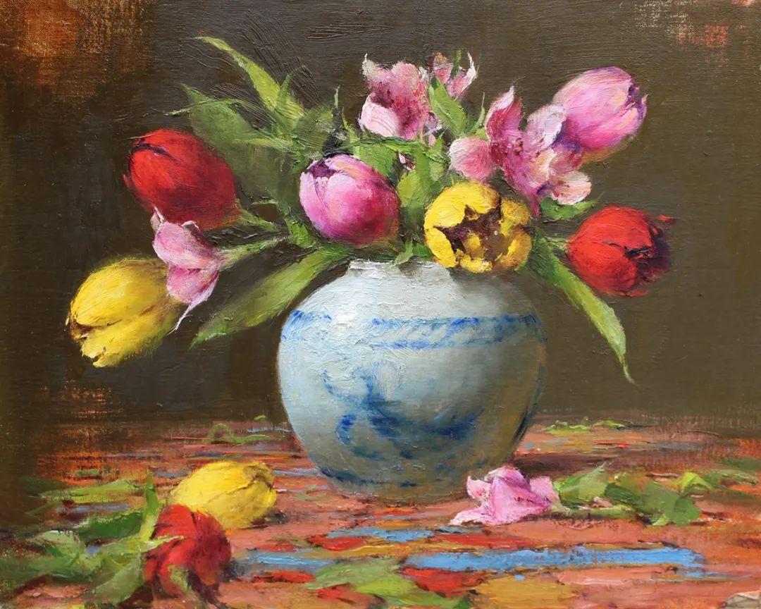 罗伯特·约翰逊笔下精美的风景、花卉油画插图95