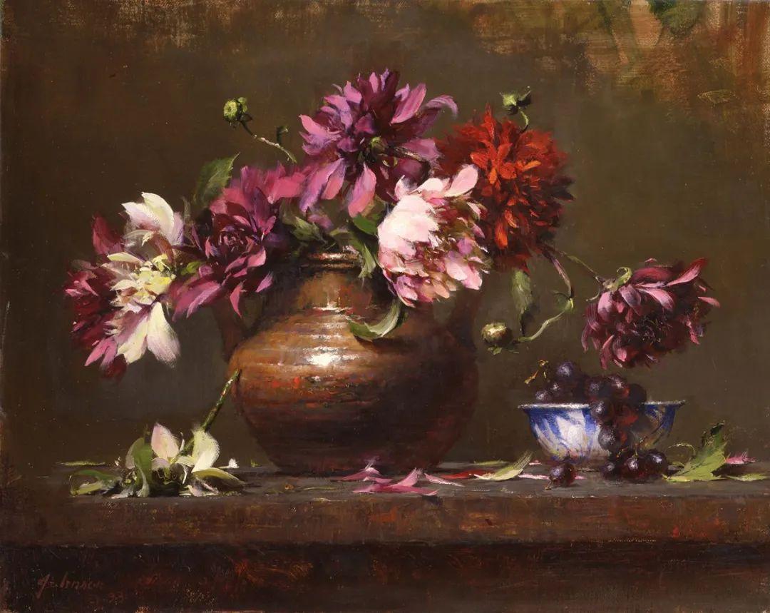 罗伯特·约翰逊笔下精美的风景、花卉油画插图97