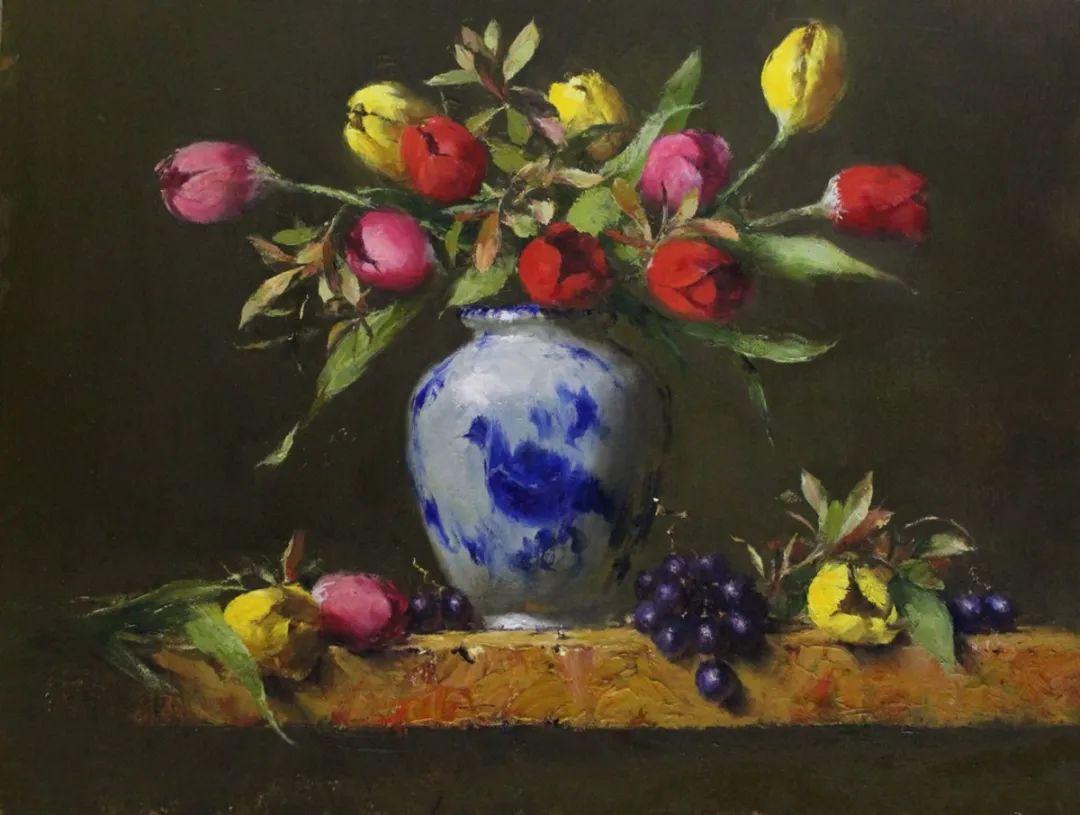 罗伯特·约翰逊笔下精美的风景、花卉油画插图99