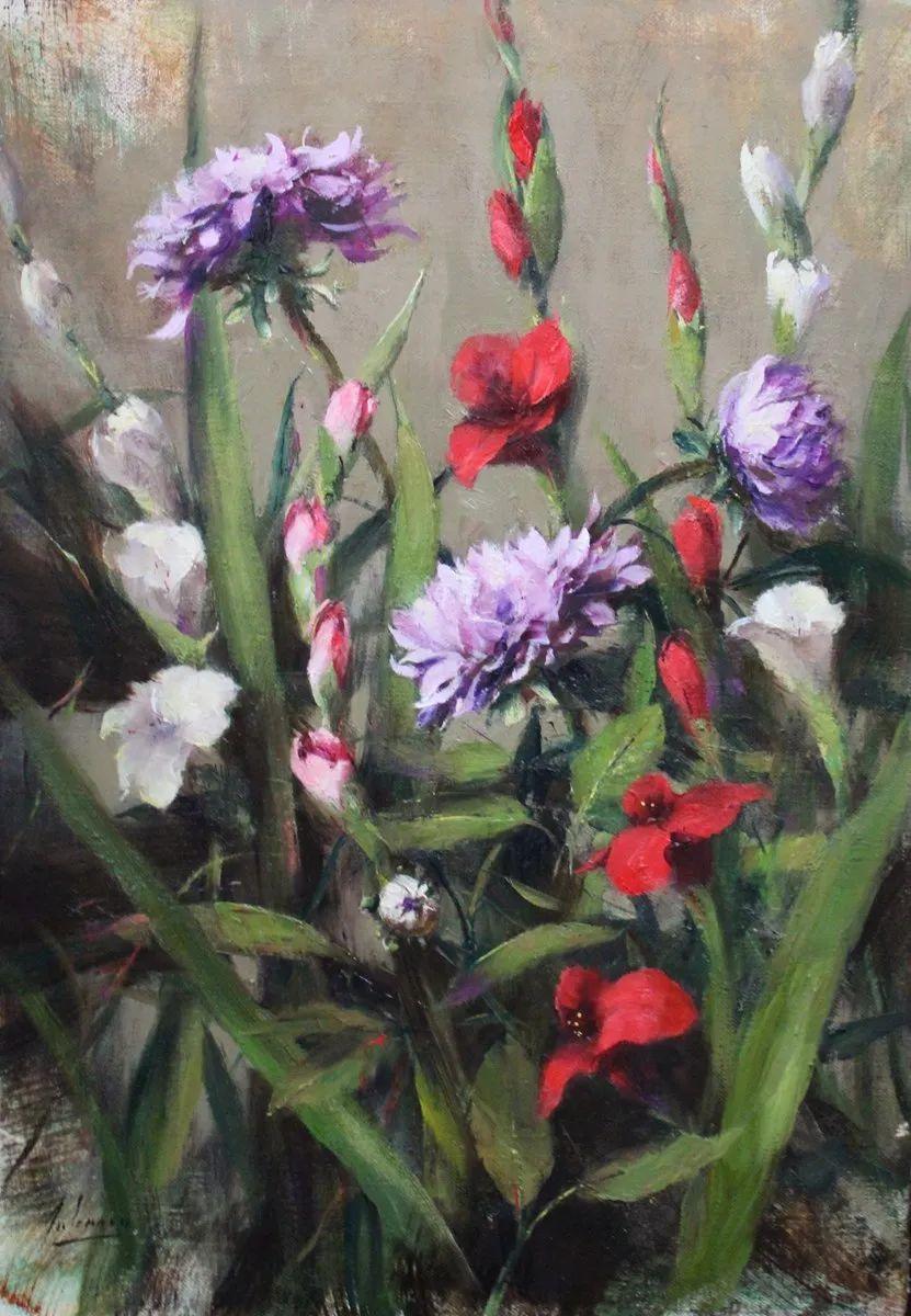 罗伯特·约翰逊笔下精美的风景、花卉油画插图101