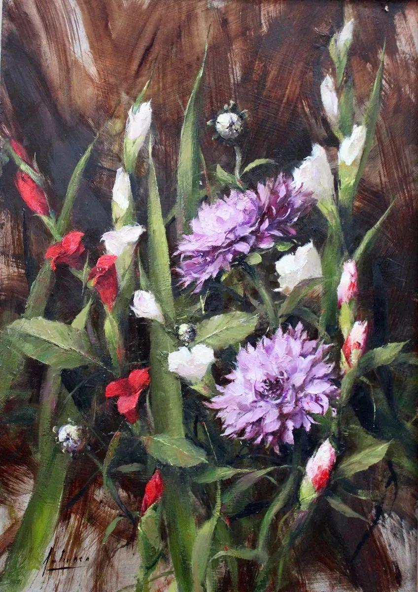罗伯特·约翰逊笔下精美的风景、花卉油画插图107