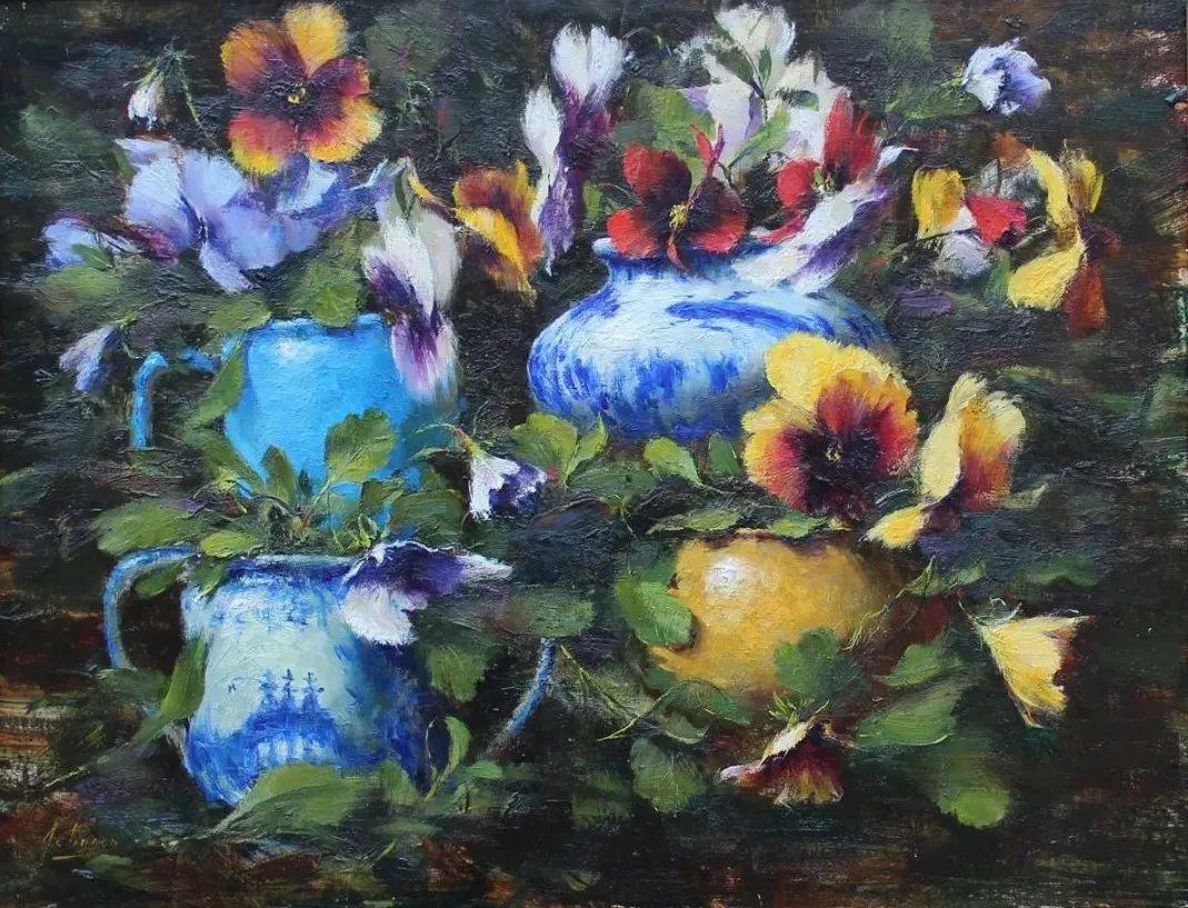 罗伯特·约翰逊笔下精美的风景、花卉油画插图109