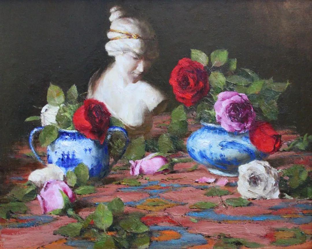 罗伯特·约翰逊笔下精美的风景、花卉油画插图111