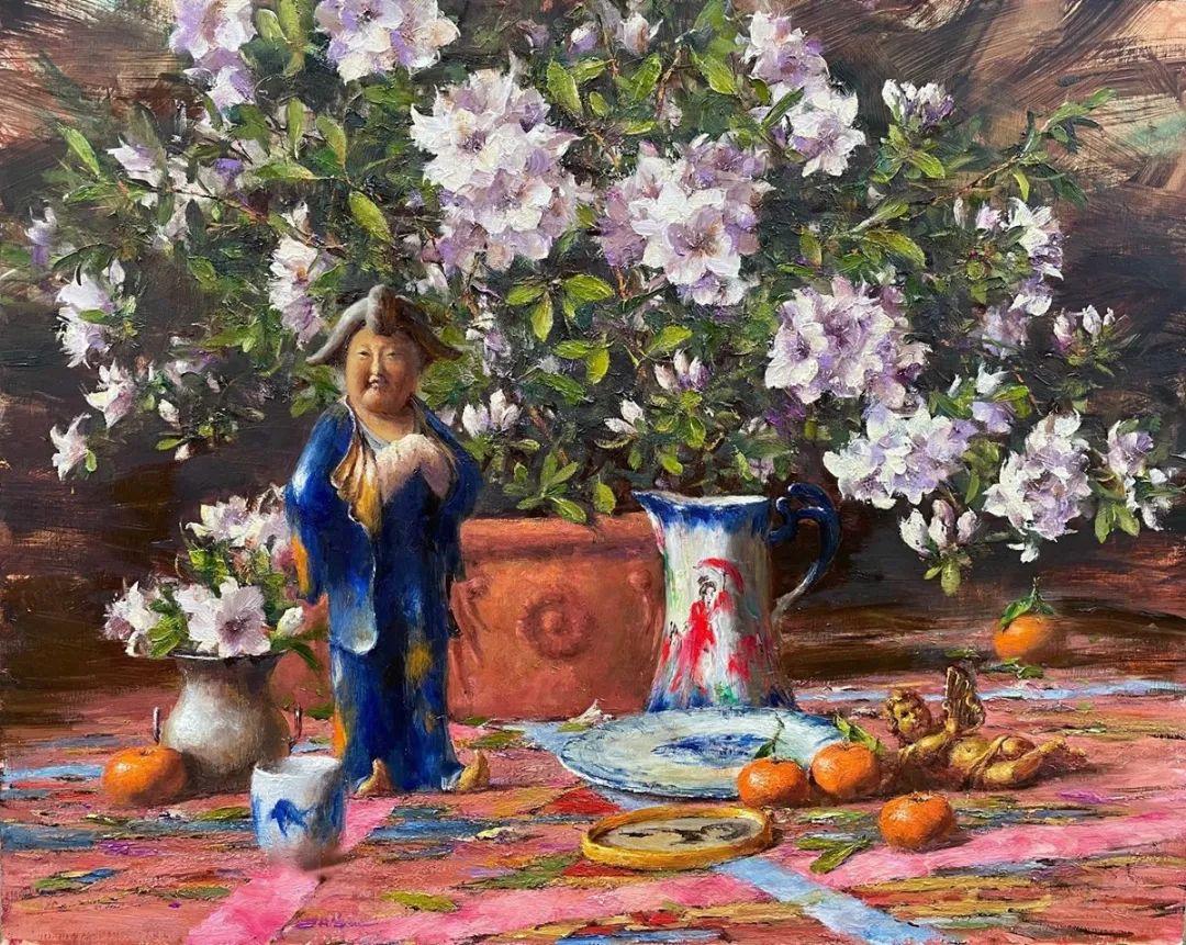 罗伯特·约翰逊笔下精美的风景、花卉油画插图113