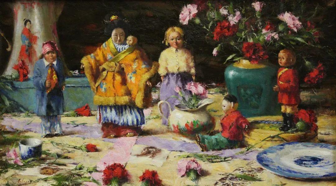 罗伯特·约翰逊笔下精美的风景、花卉油画插图115