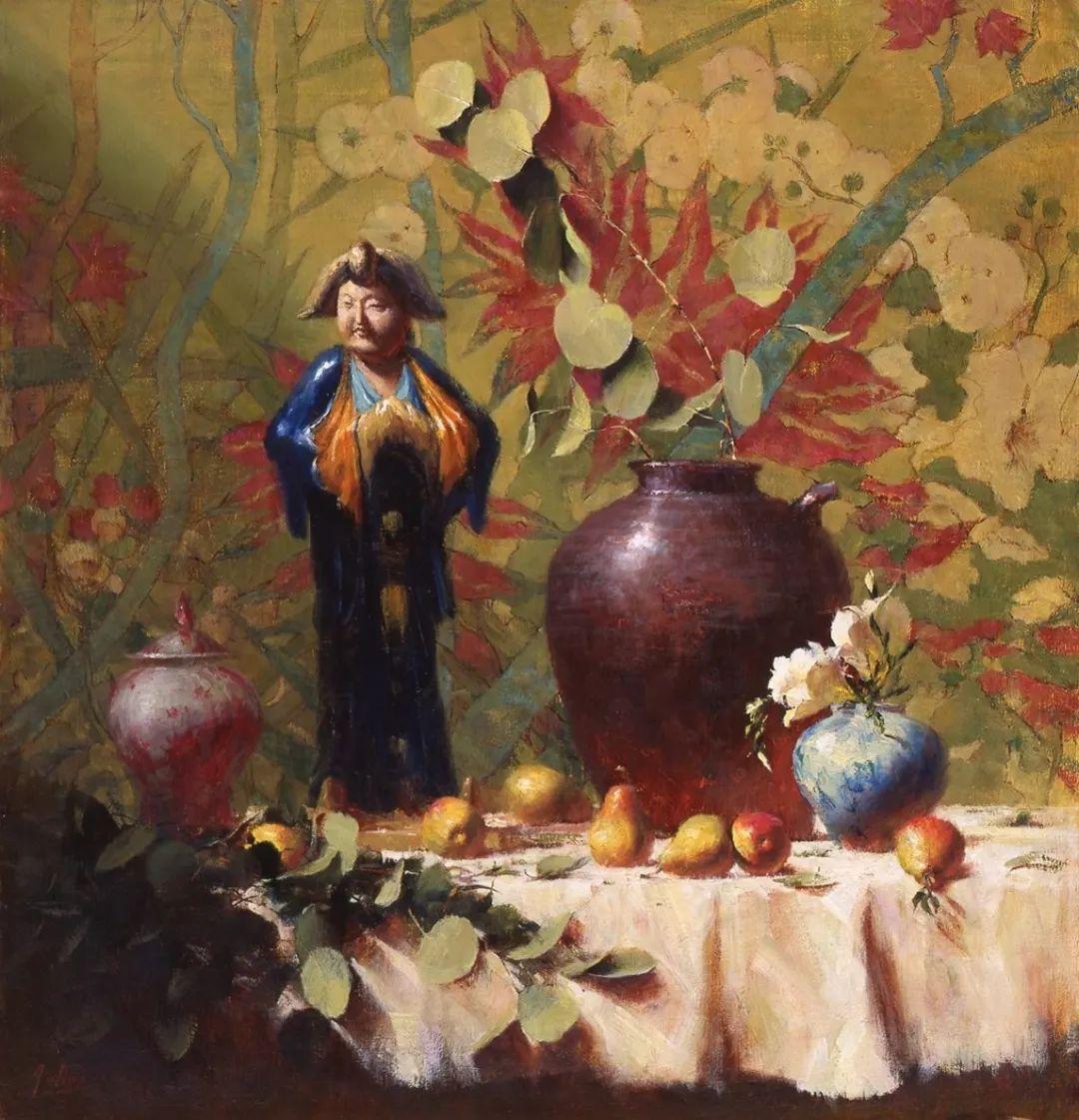 罗伯特·约翰逊笔下精美的风景、花卉油画插图117