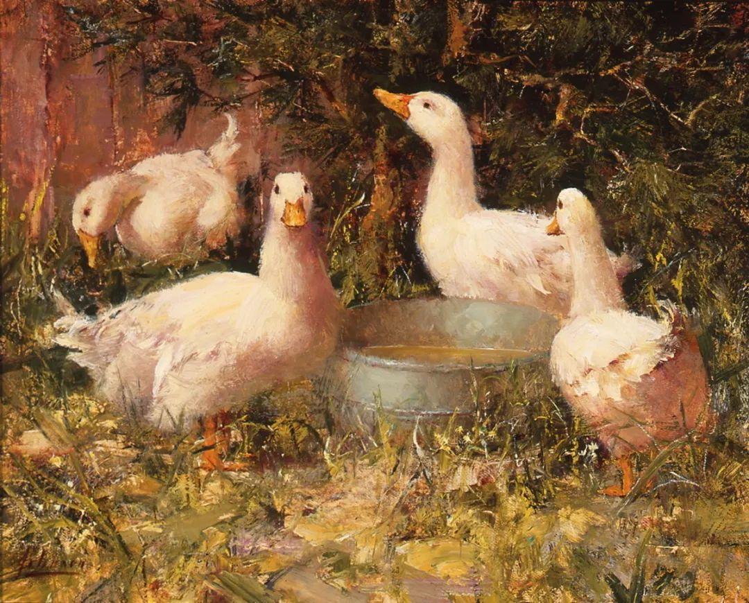 罗伯特·约翰逊笔下精美的风景、花卉油画插图127